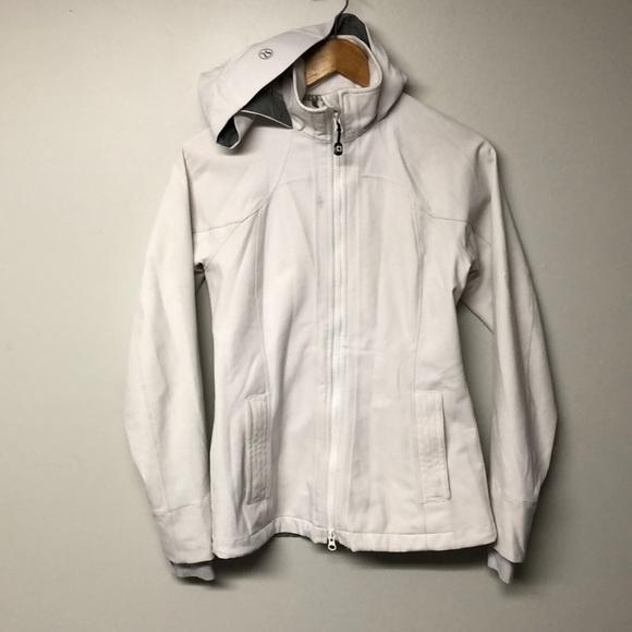 Lululemon Athletica White Let it Rain Jacket